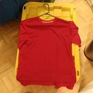Red Nike Dri-FIT t-shirt